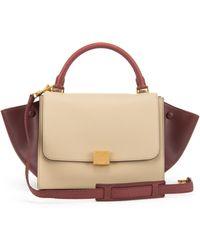 celine grey cotton handbag