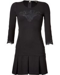 Juicy Couture Lace Inset Ponte Dress - Lyst