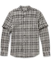 Public School Check Textured-wool Shirt - Lyst