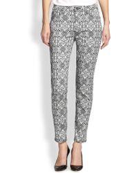 Jen7 Printed Skinny Jeans - Lyst