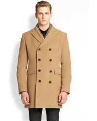J.Lindeberg Wolger Double-Breasted Wool-Blend Coat - Lyst