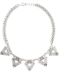 Whistles Lulu Frost Triangle Necklace - Lyst
