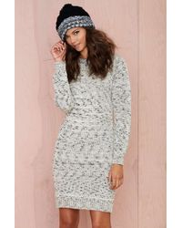 Nasty Gal Leah Sweater Dress - Lyst