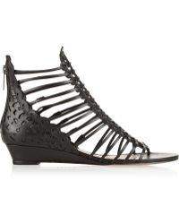 Schutz Freida Cutout Leather Sandals - Lyst
