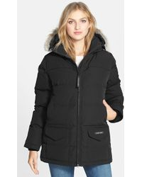 Canada Goose mens online official - Canada goose Black Down and Fur Montebello Parka in Black | Lyst