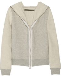 Enza Costa Hooded Cottonblend French Terry Jacket - Lyst