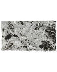 Topshop Palm Beach Print Scarf gray - Lyst