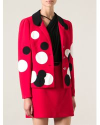 Moschino Vintage Polka Dot Skirt Suit - Lyst