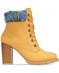 Mojo Moxy - Dolce By Outback Lace-up Utility Booties - Lyst