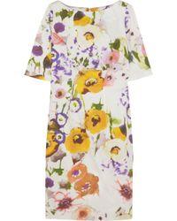 Lela Rose Printed Cotton-Blend Dress - Lyst