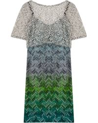 Missoni Lace Layer Dress - Lyst