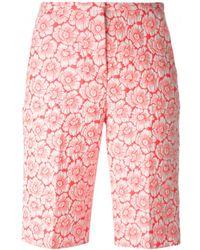 Issa Harri Jacquard Bermuda Shorts - Lyst