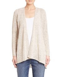 Eileen Fisher | Angled Open-front Cardigan | Lyst