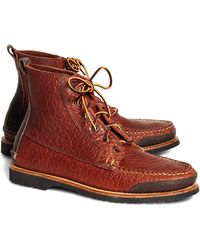 Brooks Brothers Rugged Leather Boots - Lyst