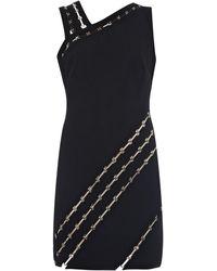 Mugler Asymmetric-Panel Stretch-Crepe Dress black - Lyst