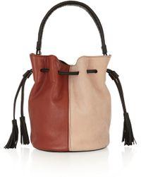 Newbark Gaia Leather and Suede Bucket Bag - Lyst