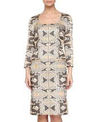 Philosophy di Alberta Ferretti 34-sleeve Printed Dress - Lyst
