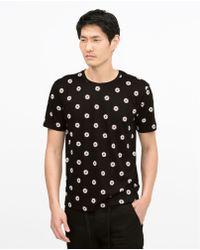 Zara Short Sleeve T-Shirt black - Lyst