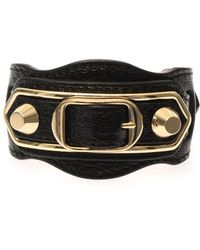 Balenciaga Studded Leather Bracelet - Lyst