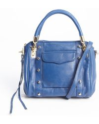 Rebecca Minkoff Electric Blue Leather Studded Cupic Mini Bag - Lyst