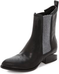 Alexander Wang Anouck Chelsea Boots With Rhodium Hardware - Black - Lyst