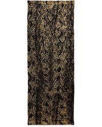 Roberto Cavalli Silk and Velvet Wrap - Lyst