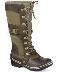 Sorel Carley Conquest Boots khaki - Lyst
