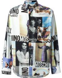 Moschino Vintage Collage Print Shirt - Lyst