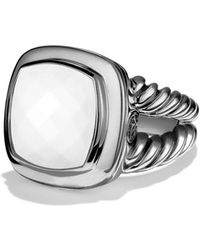 David Yurman Albion Ring With White Agate - Lyst
