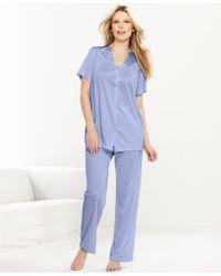 Vanity Fair - Short Sleeve Top And Pajama Pants Set 90107 - Lyst