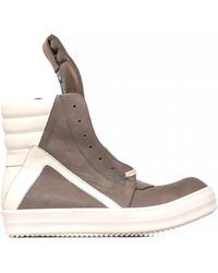 Rick Owens | Geobasket Leather Sneakers | Lyst