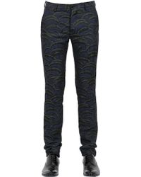 Christian Pellizzari 18cm Wool Silk Blend Jacquard Trousers - Lyst