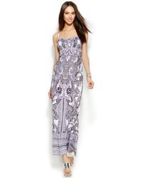Inc International Concepts Beaded Paisley-Print Maxi Dress - Lyst