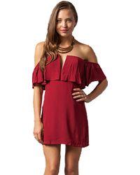 Lovers + Friends Lovers + Friends Primrose Dress In Wine red - Lyst
