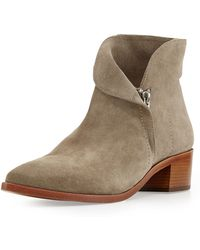 Vc Signature Reinah Side-Zip Suede Ankle Bootie - Lyst