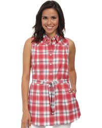 Pendleton Belted Sleeveless Shirt - Lyst