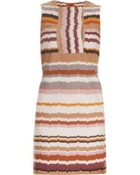 Missoni Geometric Sleeveless Short Dress - Lyst