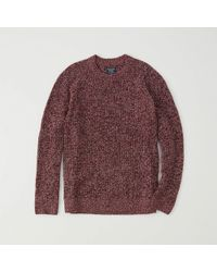 Abercrombie & Fitch - Shaker Crew Sweater - Lyst