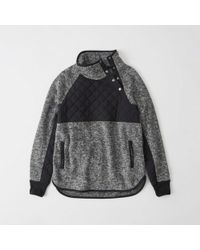 Abercrombie & Fitch - Asymmetrical Snap-up Fleece - Lyst