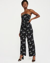 6aeaf3d757 Abercrombie   Fitch - A f Strapless Tie-front Jumpsuit - Lyst