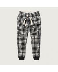 Abercrombie & Fitch - Flannel Sleep Joggers - Lyst