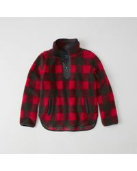 Abercrombie & Fitch - Sherpa Half-zip Pullover - Lyst