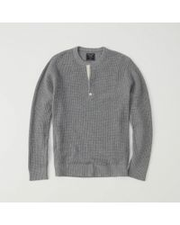 Abercrombie & Fitch - Waffle Henley Sweater Exchange Color / Size - Lyst