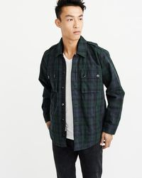 a1b07fc0a1278 Lyst - Abercrombie & Fitch Military Shirt Jacket in Green for Men