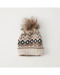 Abercrombie & Fitch - Pom Knit Beanie - Lyst