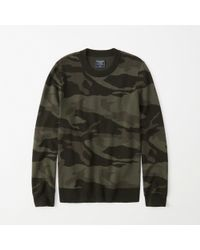 Abercrombie & Fitch - Camo Pattern Sweater - Lyst