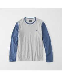 Abercrombie & Fitch - Colorblock Icon Crew Tee - Lyst