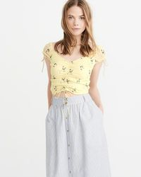 c7d86c1ccd69c0 Abercrombie   Fitch - A f Ruched Cropped Top - Lyst