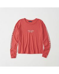 Abercrombie & Fitch - Long-sleeve Logo Tee - Lyst
