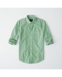 Abercrombie & Fitch - Icon Striped Poplin Shirt - Lyst